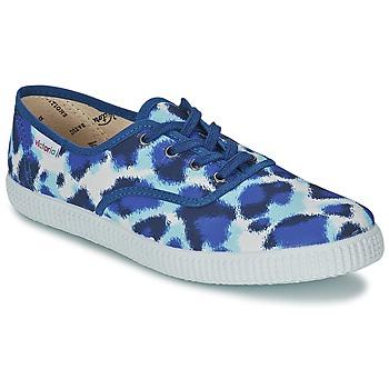 Skor Dam Sneakers Victoria INGLESA ESTAMP HUELLA TIGRE Blå