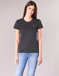 textil Dam T-shirts Levi's PERFECT TEE Svart