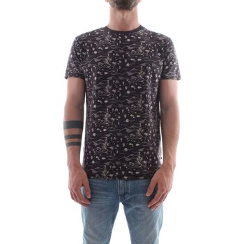 textil Herr T-shirts Scotch & Soda 142671 Black / Gray