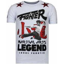 textil Herr T-shirts Local Fanatic Fighter Legend Rhinestone W Vit