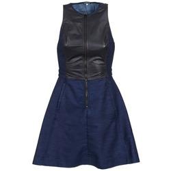 textil Dam Korta klänningar G-Star Raw SUTZIL DRESS Marin / Svart