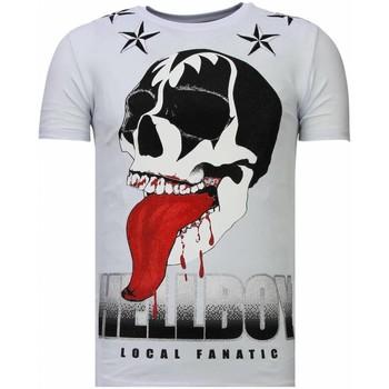 textil Herr T-shirts Local Fanatic Hellboy Rhinestone W Vit