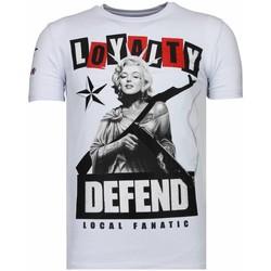 textil Herr T-shirts Local Fanatic Loyalty Marilyn Rhinestone V Vit
