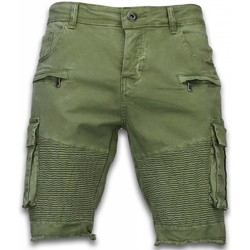 textil Herr Shorts / Bermudas Enos Chinos Kortbyxor Skotskrutiga Byxor JGr Grön