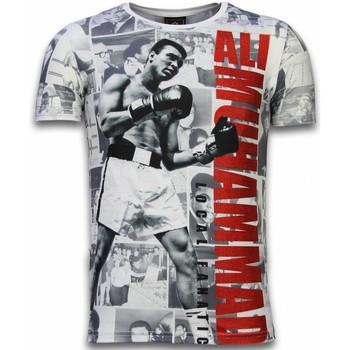 textil Herr T-shirts Local Fanatic Muhammad Photocollage Rhinestone W Vit
