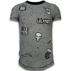 textil Herr T-shirts Local Fanatic Patches Rockstar LFG Grå
