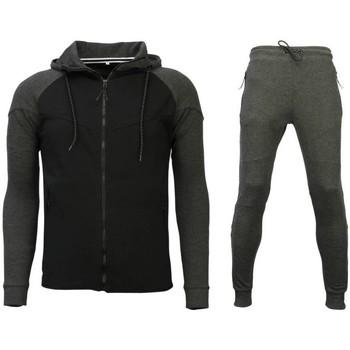 textil Herr Sportoverall Style Italy Shoppa Träningskläder Träningskläder Gym Svart, Grå