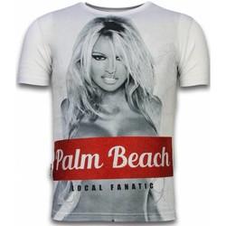 textil Herr T-shirts Local Fanatic Palm Beach Pamela Rhinestone W Vit