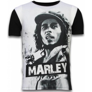 textil Herr T-shirts Local Fanatic Bob Marley Black And White Z Svart