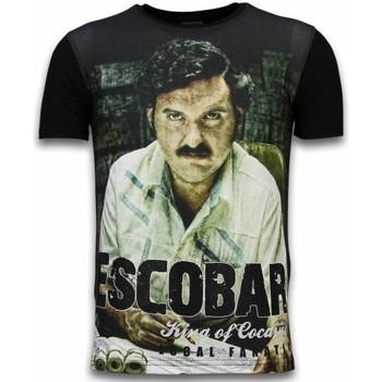 textil Herr T-shirts Local Fanatic Escobar King Of Cocaine Z Svart