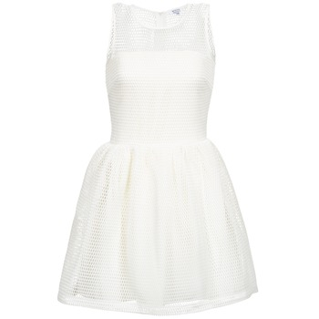 textil Dam Korta klänningar Brigitte Bardot AGNES Vit