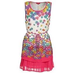 textil Dam Korta klänningar Derhy BARMAN Benvit / Rosa