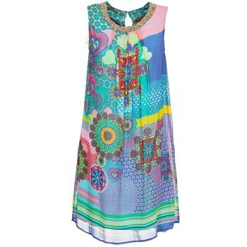 textil Dam Korta klänningar Derhy BARDE Blå / Grön / Flerfärgad