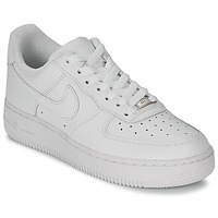 Skor Dam Sneakers Nike AIR FORCE 1 07 LEATHER W Vit