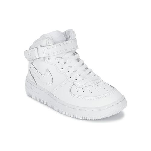vita höga nike skor