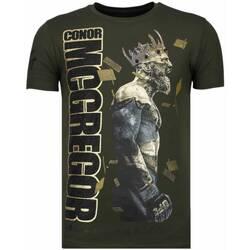 textil Herr T-shirts Local Fanatic Notorious King Conor Mcgregor K Khaki Grön
