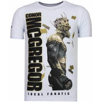 textil Herr T-shirts Local Fanatic Notorious King Conor Mcgregor W Vit