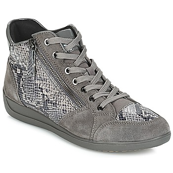Skor Dam Sneakers Geox D MYRIA Grå / Mörk