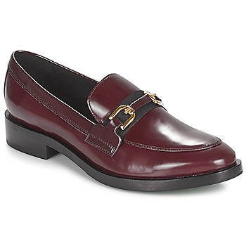 Skor Dam Loafers Geox DONNA BROGUE Bordeaux / Svart