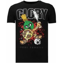 textil Herr T-shirts Local Fanatic Glory Martial Rhinestone Z Svart
