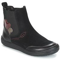 Skor Flickor Boots Geox J HADRIEL GIRL Svart