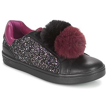 Skor Flickor Sneakers Geox J DJROCK GIRL Svart / Violett