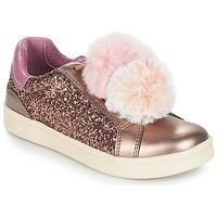 Skor Flickor Sneakers Geox J DJROCK GIRL Beige / Rosa