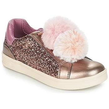 Skor Flick Sneakers Geox J DJROCK GIRL Beige / Rosa