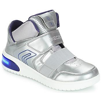 Skor Flick Höga sneakers Geox J XLED GIRL Silver