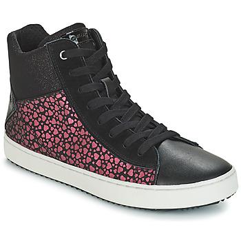 Skor Flick Höga sneakers Geox J KALISPERA GIRL Svart / Rosa