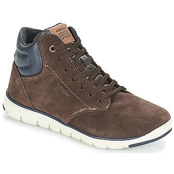 Skor Pojk Höga sneakers Geox J XUNDAY BOY Brun / Marin