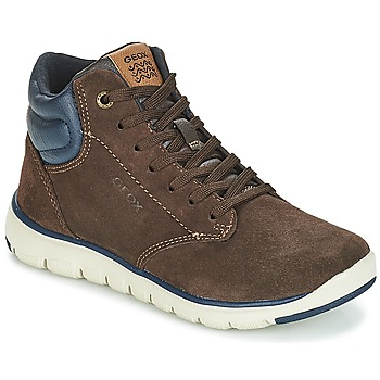Skor Pojkar Höga sneakers Geox J XUNDAY BOY Brun / Marin