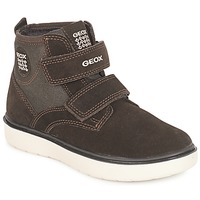 Skor Pojkar Höga sneakers Geox J RIDDOCK BOY Brun / Marin