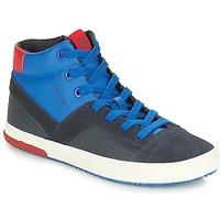Skor Pojk Höga sneakers Geox J ALONISSO BOY Marin / Röd