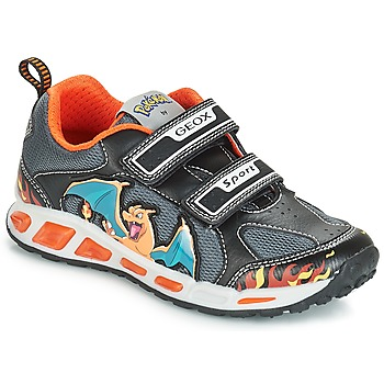 Skor Pojkar Sneakers Geox J SHUTTLE BOY Svart / Orange