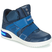 Skor Pojkar Höga sneakers Geox J XLED BOY Marin