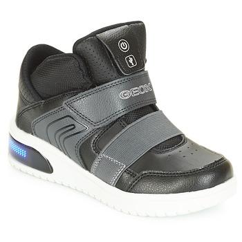 Skor Pojkar Höga sneakers Geox J XLED BOY Svart