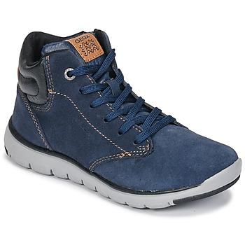 Skor Pojkar Höga sneakers Geox J XUNDAY BOY Marin / Svart