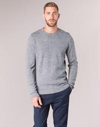 textil Herr Tröjor Jack & Jones JJEBASIC Blå
