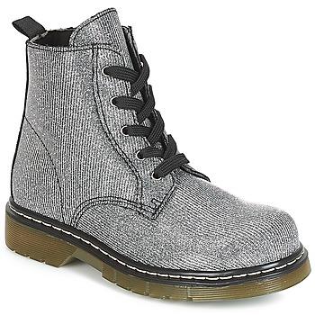 Skor Flickor Boots André MARLA Silverfärgad