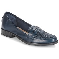 Skor Dam Loafers André LONG ISLAND Marin