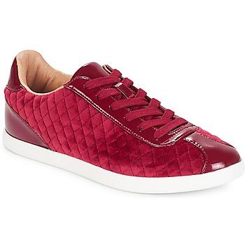 Skor Dam Sneakers André VELVET Röd