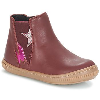 Skor Flickor Boots André MAGENTA Bordeaux