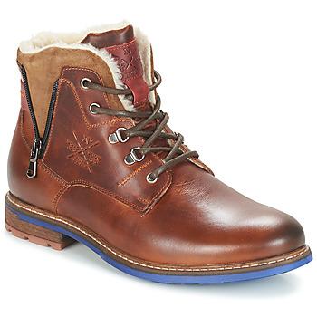 Skor Herr Boots André GUINEE Brun