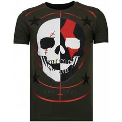 textil Herr T-shirts Local Fanatic God Of War Rhinestone K Khaki Grön
