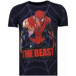 textil Herr T-shirts Local Fanatic The Beast Spider N Blå