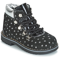 Skor Flickor Boots Citrouille et Compagnie JORDA Svart / Silverfärgad