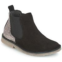 Skor Flickor Boots Citrouille et Compagnie FIGOULI Svart / Glitter