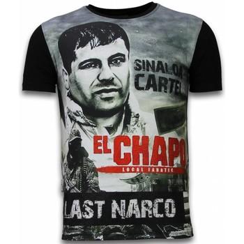 textil Herr T-shirts Local Fanatic El Chapo Last Narco Rhinestone Z Svart