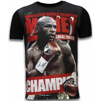 textil Herr T-shirts Local Fanatic Money Champion Rhinestone Z Svart